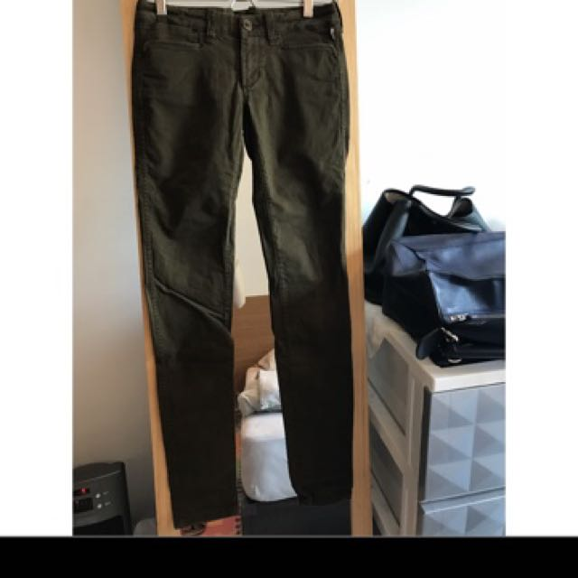 Polo Jeans墨綠色skinny長褲
