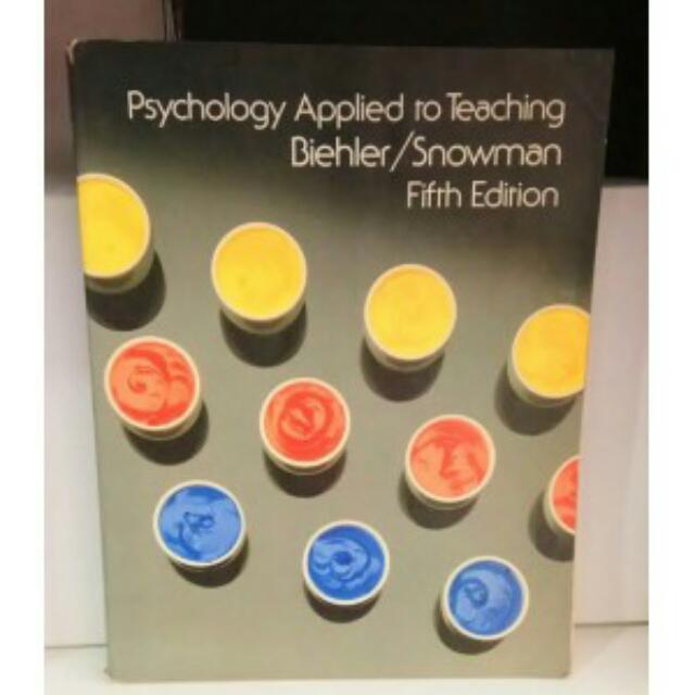 PSYCHOLOGY APPLIED TO TEACHING 5 EDITION, BIEHLER