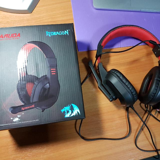 9489382d587 Red Dragon Garuda Gaming Headset, Toys & Games, Video Gaming, Gaming  Accessories on Carousell