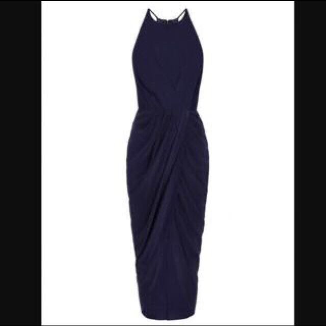 Rodeo Show Navy Silk Dress
