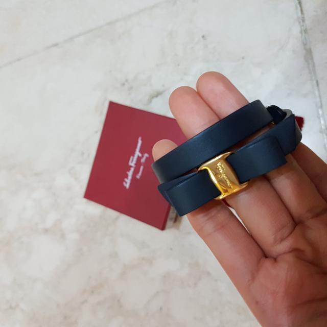 Salvatore Ferragamo Slate Gray Bracelet  (GENUINE)