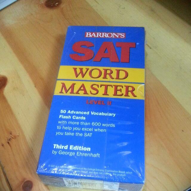 SAT Word Master Flashcards (Level II)