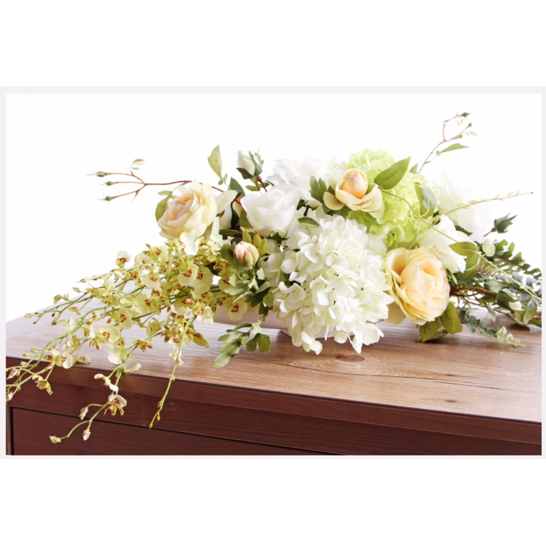 Silk Flowers Arrangement Hydrangea Roses Centerpieces Bulletin