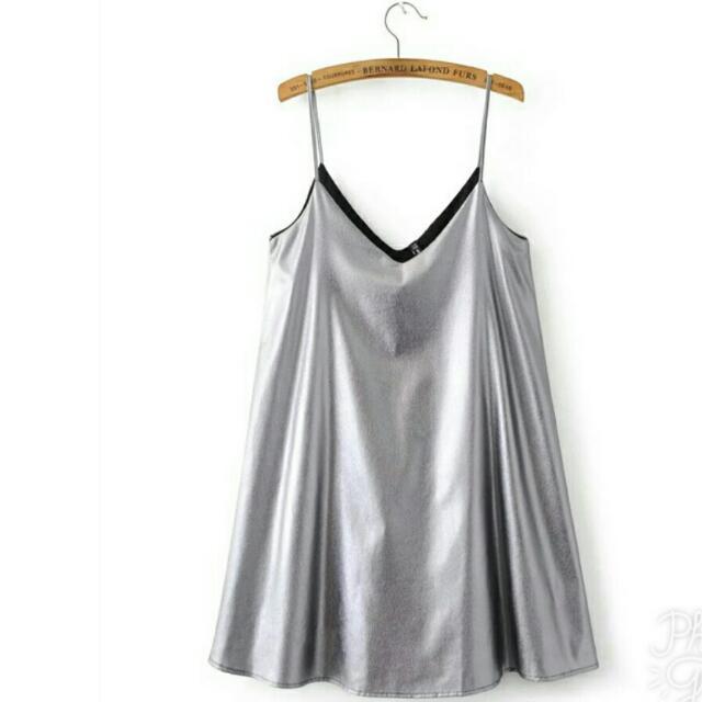 Silver Strap Dress