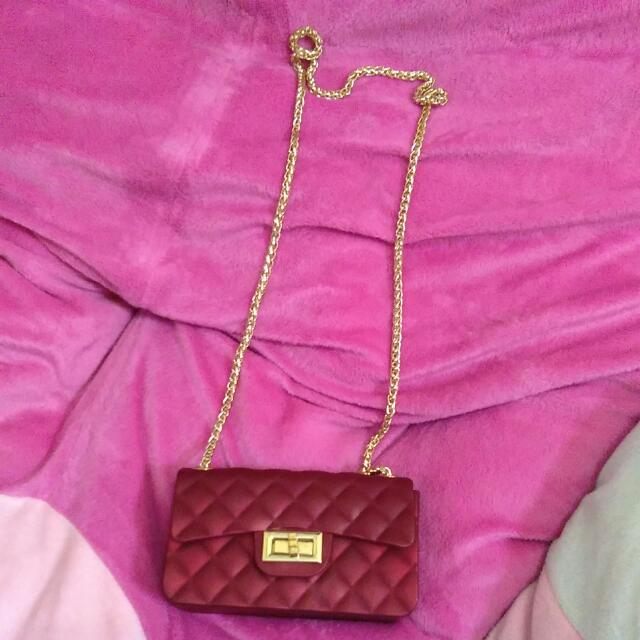 Sling Bag Jelly Mini Maroon