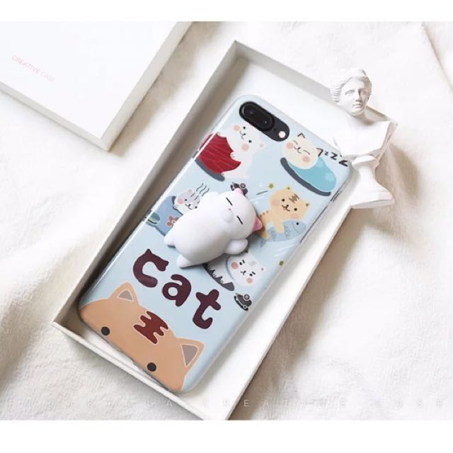 Squishy Cats 3D Stress Relieve Phone Case