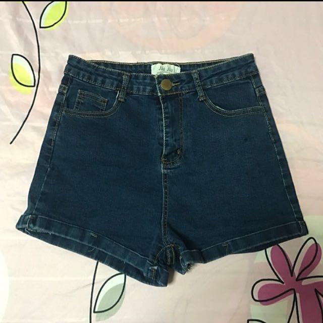 The Editor's Market Denim High Waist Shorts
