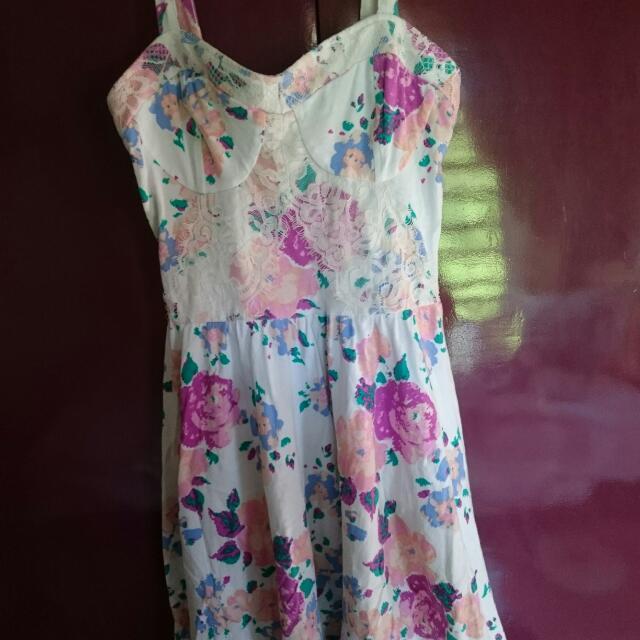 Topshop Bustier Lace Dress