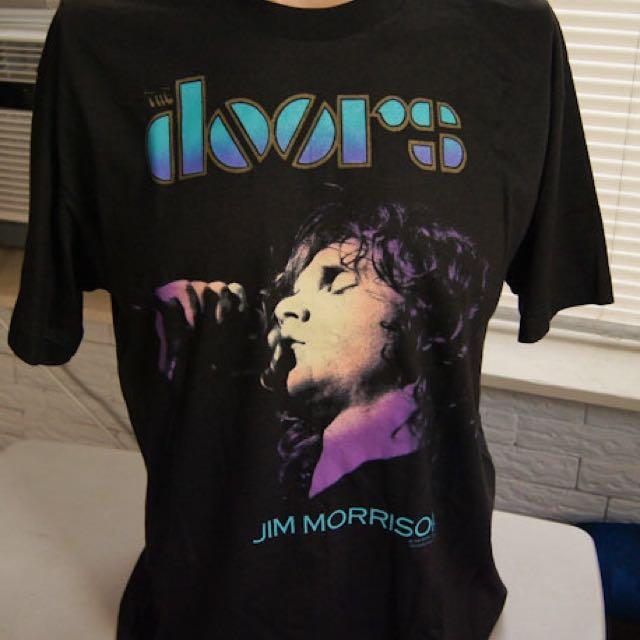 """VINTAGE 1990 The Doors """"Dance On Fire"""" Jim Morrison T-Shirt - Size L"""