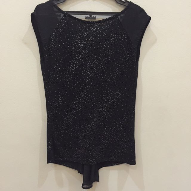Warehouse Blouse With Silver Dot Accent