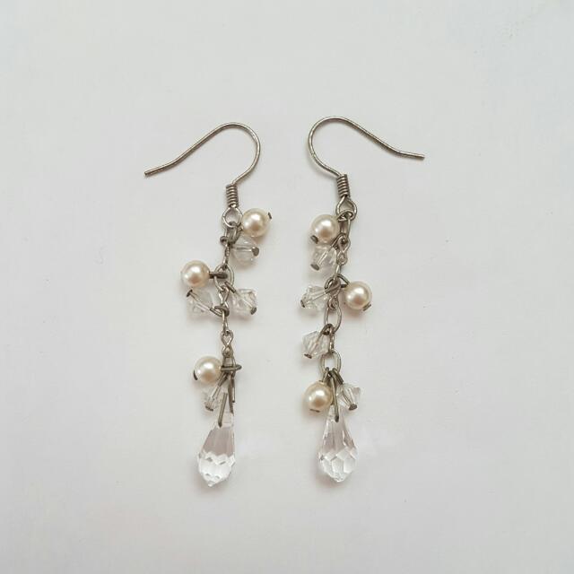 White Handmade Earrings
