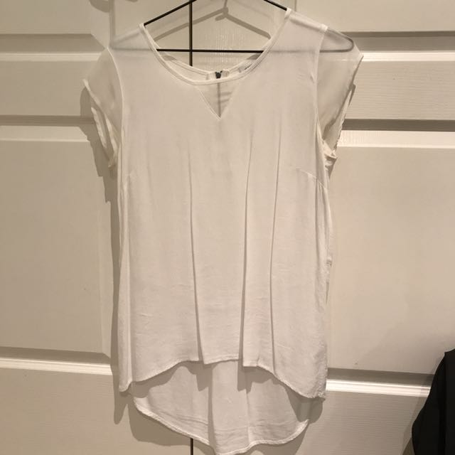 White Jeans West Top - Size 8