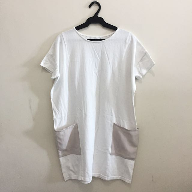 White Shift Dress Shirt
