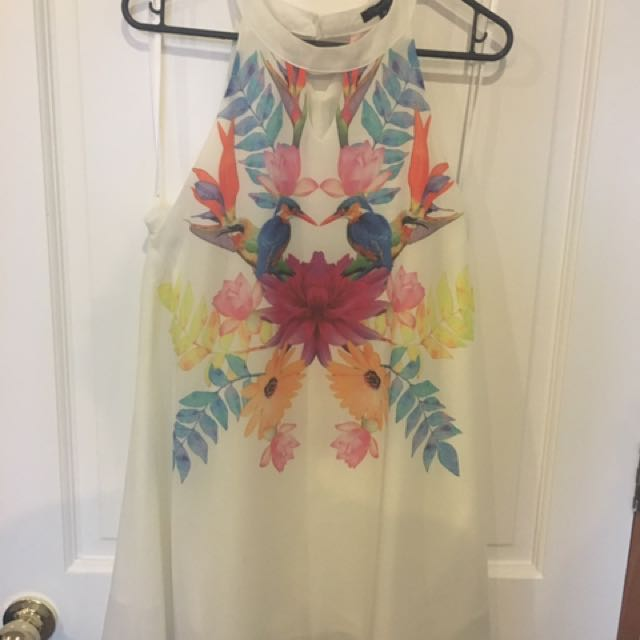White/Floral Dress