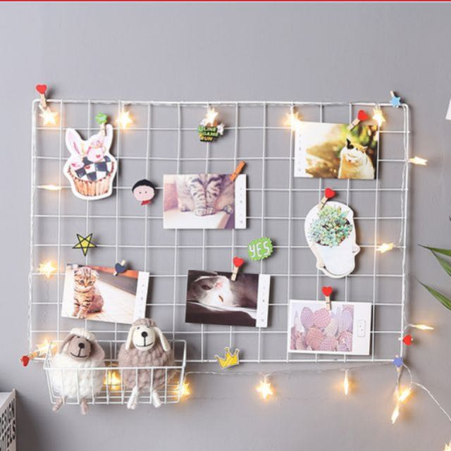 Wire Wall Grid Decor Furniture Home On Carousell