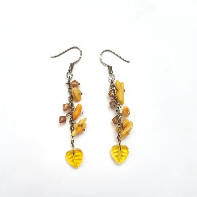 Yellow Handmade Earrings