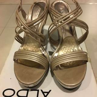Aldo Champagne Colour Wedges, size 39