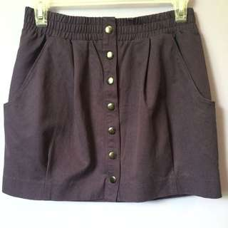 H&M Purple Button Up Skirt