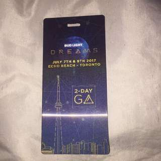 2 Day GA Dreams Hardcopy ticket