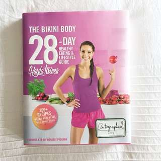 AUTOGRAPHED Kayla Itsines The 28 Day Bikini Body Guide