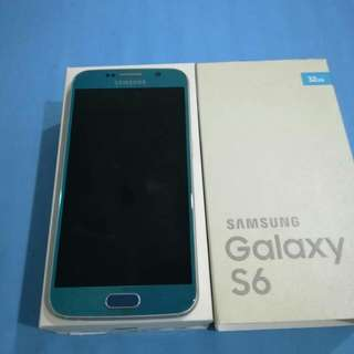 Samsung Galaxy S6 BLUE 32GB  Set Like New With Original Casing