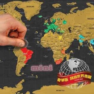 刮刮樂地圖 世界地圖 Scratch Map 刮刮地圖 黑色奢華版世界刮刮畫地圖 獨霸全球地圖 刮地圖創意禮品 原價890元.給你愛旅遊好心情價690元免運