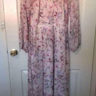 Long Sleeve Maxi Dress By Selfridges Size 14-16