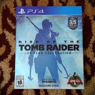 RISE OF THE TOMB RADIER **PS4** MINT