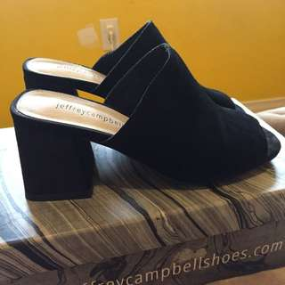 Jeffrey Campbell Suede Mules