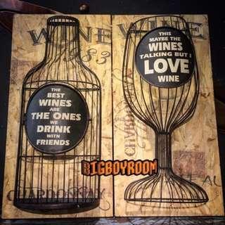 【BIgBoyRoom】工業風家具 Loft家飾酒杯洋酒 壁掛鐵製仿古董美式復古紐約立體模型 居家裝飾酒吧