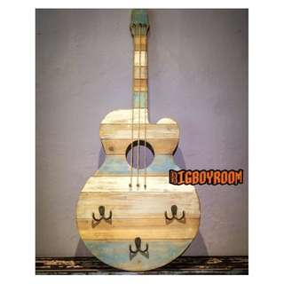 【BIgBoyRoom】工業風家具 Loft家飾 吉他造型掛勾烏克麗麗 鐵製壁掛美式復古紐約 立體模型居家裝飾酒吧