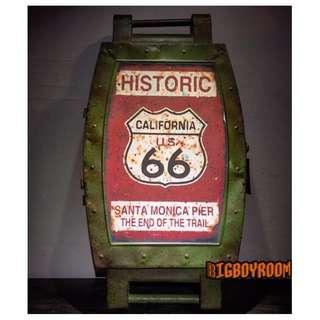【BIgBoyRoom】工業風家具 Loft家飾 66號公路壁掛收納箱 鐵製收納櫃手錶美式復古紐約 立體模型居家裝飾酒吧