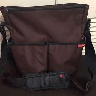 Skip Hop Brown & Black Diaper Bag