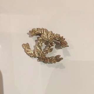 Cc Brooch Antique Gold