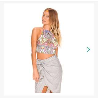 Crop Top With An Open Back