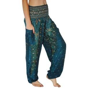 Harem Pants - ORANGE  + BLUE