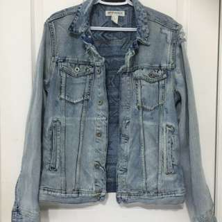Oversized Distressed Denim Jacket From H&m