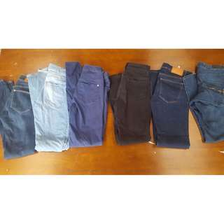 SKINNY JEANS DENIM HAUL Size 8 Small Zara H&M