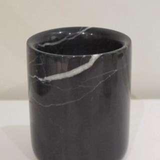 Black Marble Vase/ Toothbrush Holder