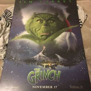 Jim Carrey Is The Grinch Wooden Poster