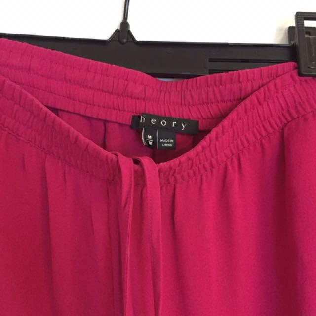100% Silk Theory Pants, Size M