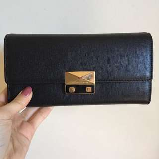 Charles And Kieth Black And Gold Wallet