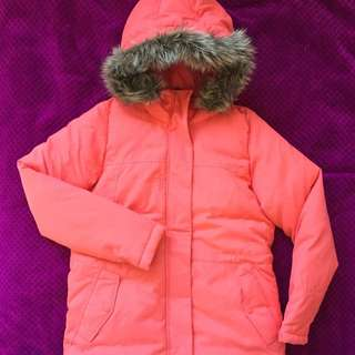 Reebok Winter Jacket Coat, Hot Pink/orange, Size S-M, 36-38, 10-12