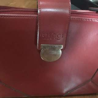 Authentic Red Gucci Bag