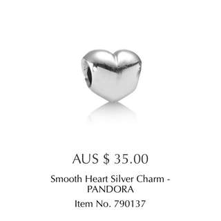 Pandora Smooth Heart Charm
