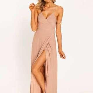 Mooloola Latte Maxi Dress- Size 8