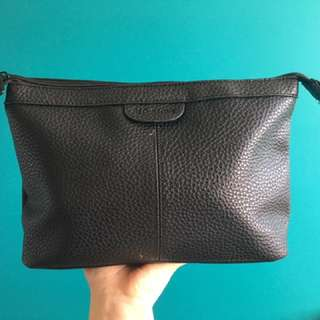 Leather Makeup/ Toiletry Baf