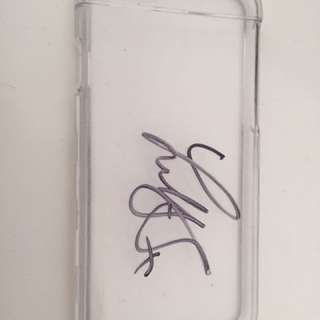 Lilly Singh signed iphone 6 clear phone case
