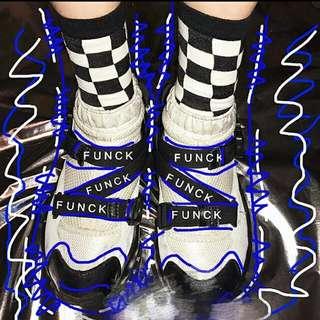 💋格子襪💋棋盤格襪 格子 黑白格襪 黑白襪子 滑板襪 中筒襪