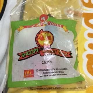 公仔擺設 麥當勞史諾比世界之旅 中國造型 (Snoopy World Tour CHINA)